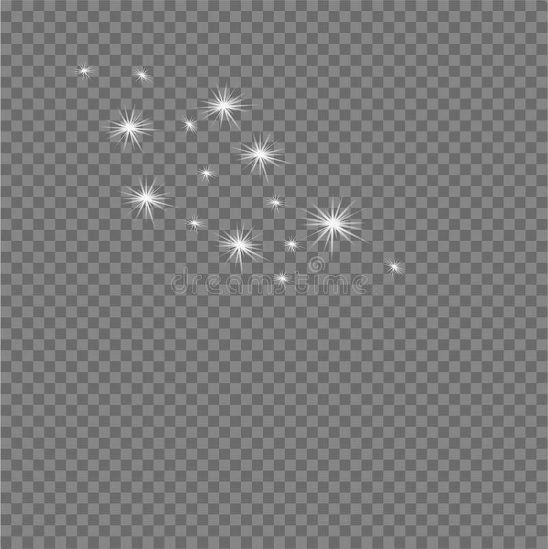 Abstrakcjonistyczny gwiaździsty nieba tło Odosobniona wektor grupa gwiazdy ilustracji