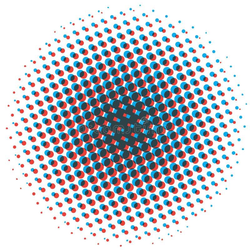 Abstrakcjonistyczny Halftone projekta element Wystrzał sztuki kropki tło Ar royalty ilustracja