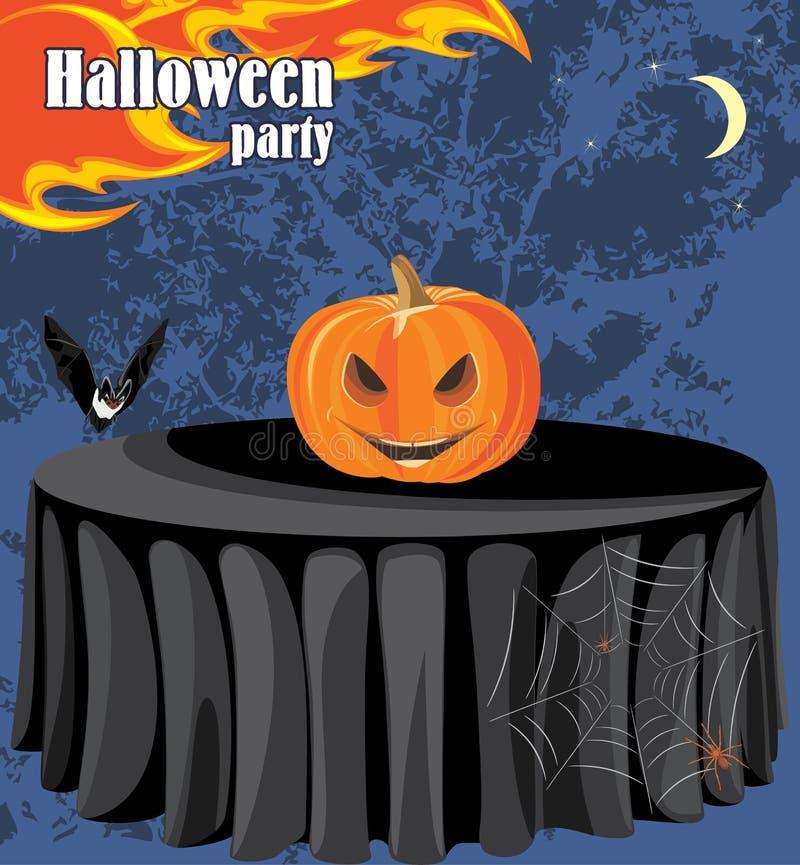 Abstrakcjonistyczny Halloween przyjęcia tło ilustracji