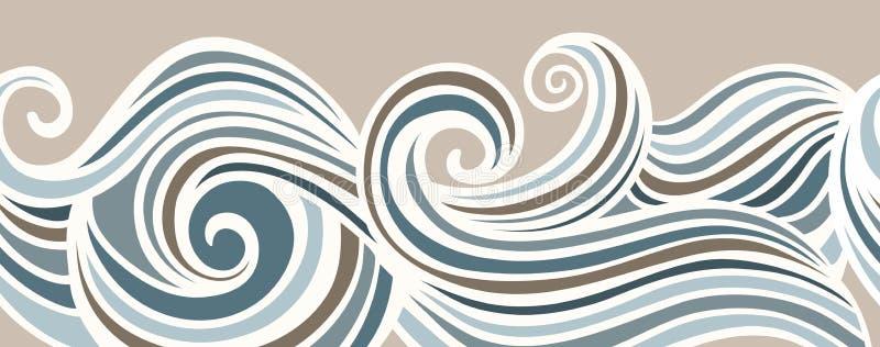 Abstrakcjonistyczny horyzontalny bezszwowy falowania tło ilustracja wektor
