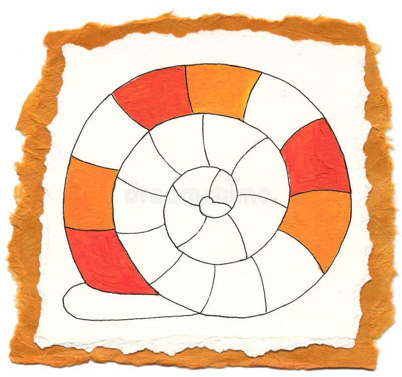 abstrakcjonistyczny ilustracyjny ślimaczek royalty ilustracja