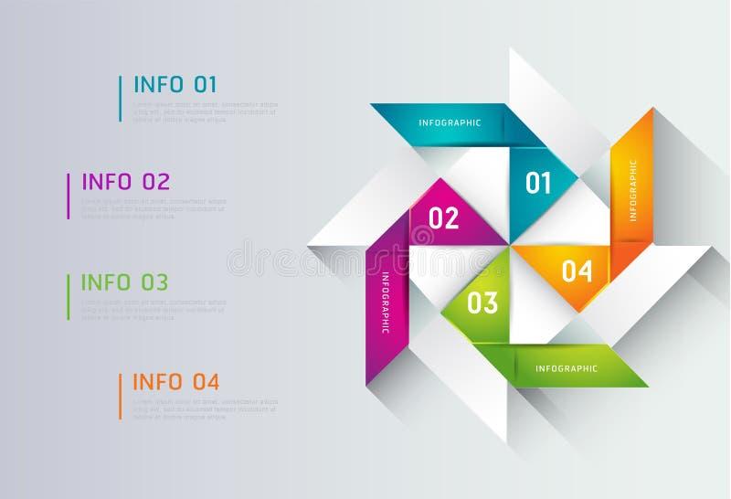 Abstrakcjonistyczny ilustracyjny infographic ilustracja wektor