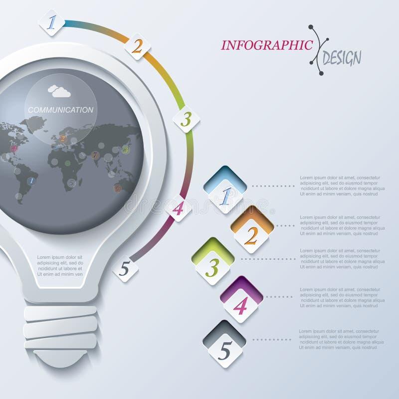 Abstrakcjonistyczny ilustracyjny Infographic szablon royalty ilustracja