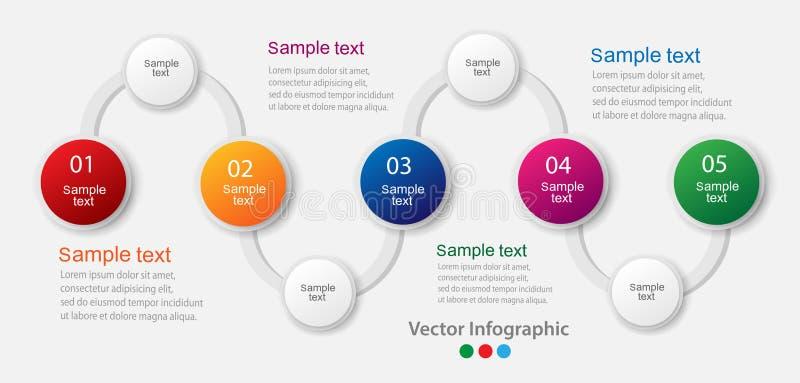 Abstrakcjonistyczny infographics liczby opcj szablon obrazy stock
