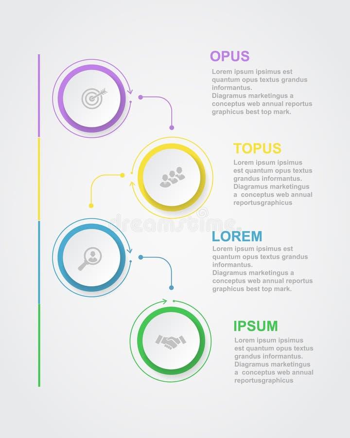 Abstrakcjonistyczny infographics liczby opcj szablon royalty ilustracja