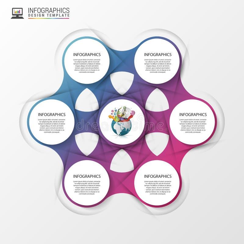 Abstrakcjonistyczny infographics pojęcie nowożytny projekta szablon również zwrócić corel ilustracji wektora ilustracja wektor