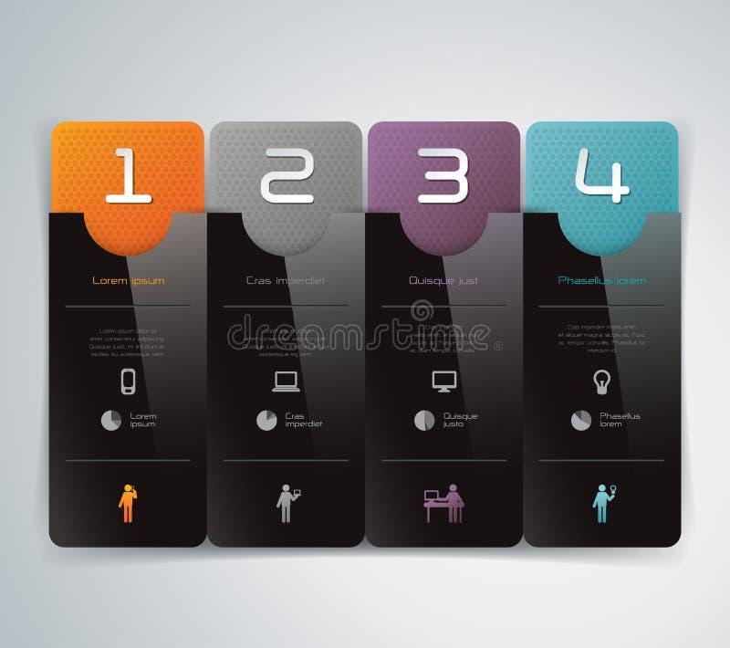 Abstrakcjonistyczny infographics szablonu projekt ilustracja wektor
