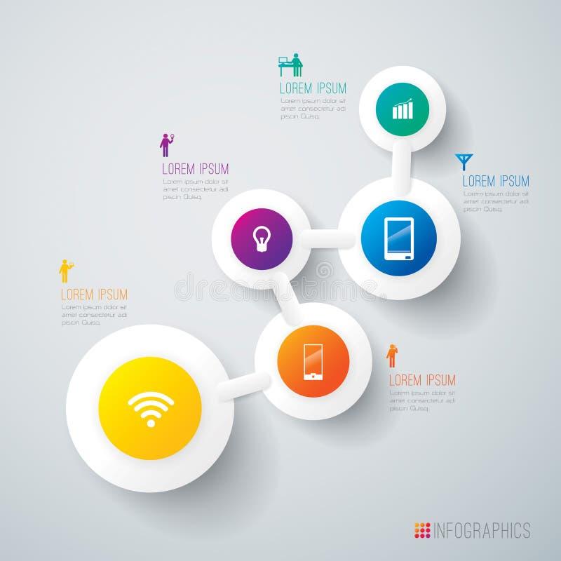 Abstrakcjonistyczny infographics szablonu projekt. ilustracji