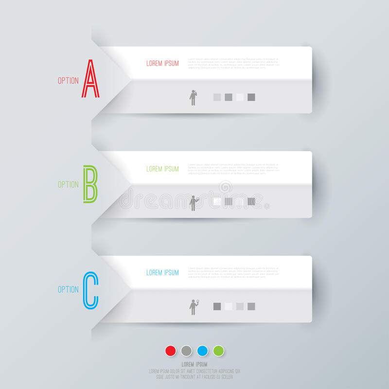 Abstrakcjonistyczny infographics szablonu projekt. ilustracja wektor