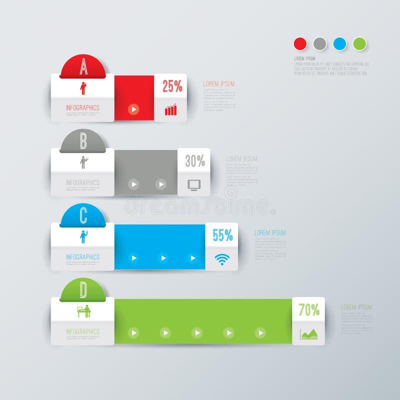 Abstrakcjonistyczny infographics szablonu projekt. royalty ilustracja