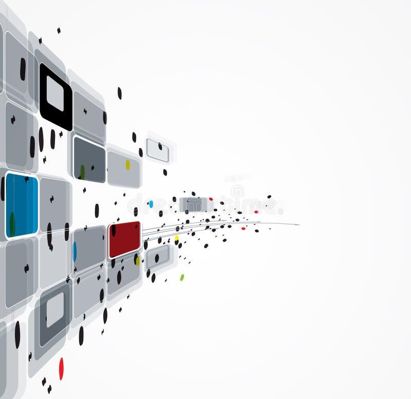 Abstrakcjonistyczny informatyka biznesu rozwiązanie ilustracji