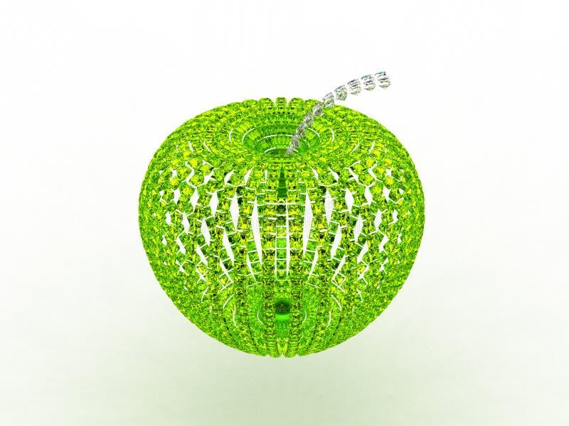 abstrakcjonistyczny jabłczany szmaragdowy szkło ilustracji