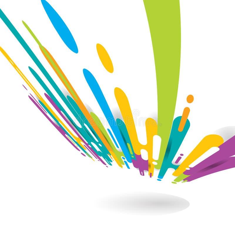Abstrakcjonistyczny jaskrawy kolor zaokrąglający kształtuje linii przemiany perspektywicznego tło z kopii przestrzenią Elementu h royalty ilustracja