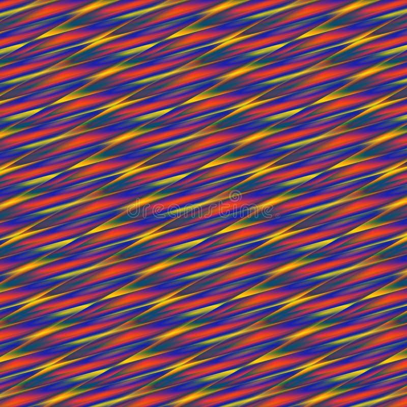 Abstrakcjonistyczny jaskrawy, kolorowy geometryczny tło wyginać się linie w, czerwieni, koloru żółtego i błękita gradientach, royalty ilustracja