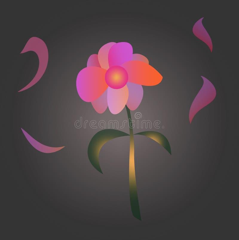 Abstrakcjonistyczny jaskrawy kwiat zdjęcie stock