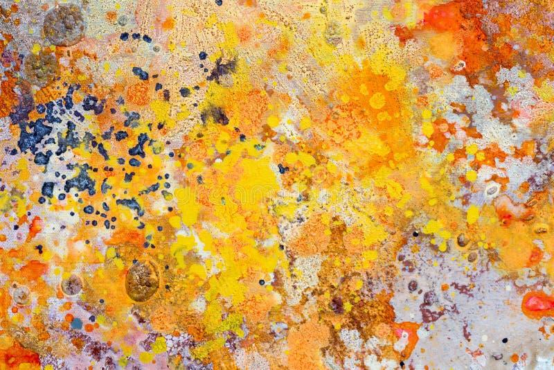 Abstrakcjonistyczny jaskrawy wyłączny akwarela obraz w kontrastów nowych colours obraz stock