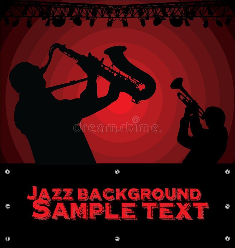 Abstrakcjonistyczny Jazzowy muzyczny tło ilustracji