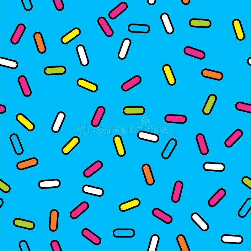 Abstrakcjonistyczny junakowanie wzoru wektor, Memphis stylu wzoru wektor z małymi junakowaniami, retro kolor tekstura ilustracja wektor