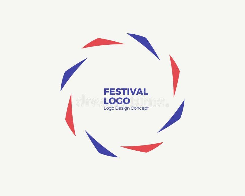Abstrakcjonistyczny kółkowy dynamiczny logo ilustracji