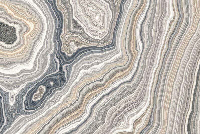 Abstrakcjonistyczny kędzierzawy marmur ilustracji