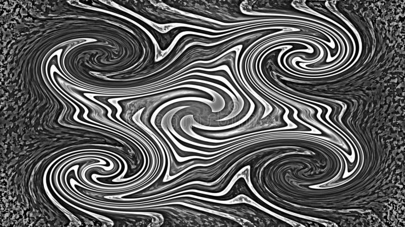 Abstrakcjonistyczny kędzierzawy tło ilustracja wektor