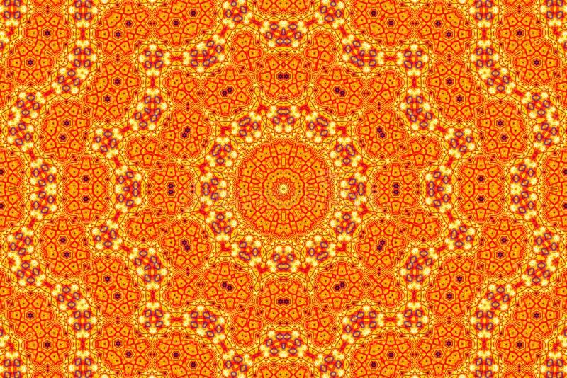Abstrakcjonistyczny kalejdoskopu wzoru tło obrazy stock