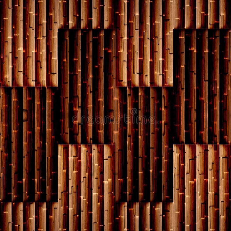 Abstrakcjonistyczny kasetonuje wzór drewniana tekstura - bezszwowy tło - zdjęcia stock