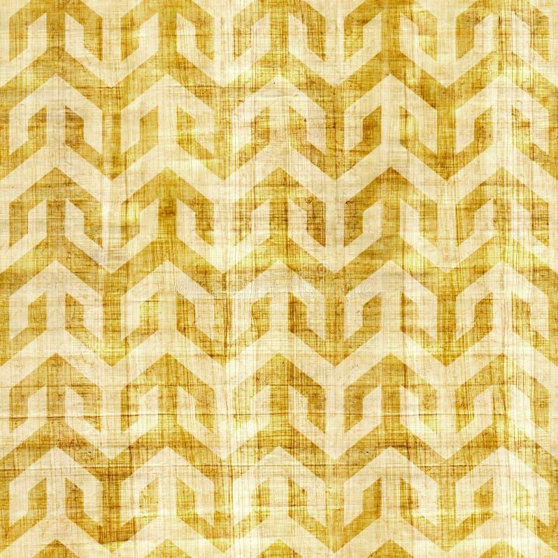Abstrakcjonistyczny kasetonuje wzór papirusowa tekstura - bezszwowy wzór - ilustracja wektor
