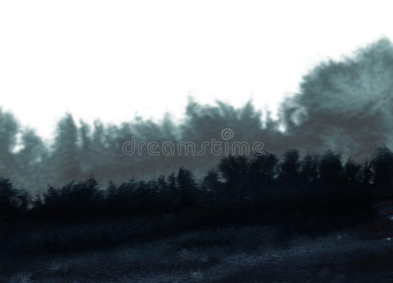 Abstrakcjonistyczny kleks maluj?cy akwarela krajobrazu t?o papierowa tekstura obraz stock