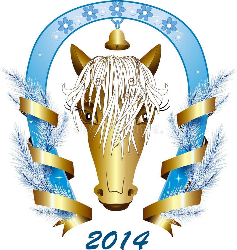 Abstrakcjonistyczny koń symbol 2014_ ilustracji