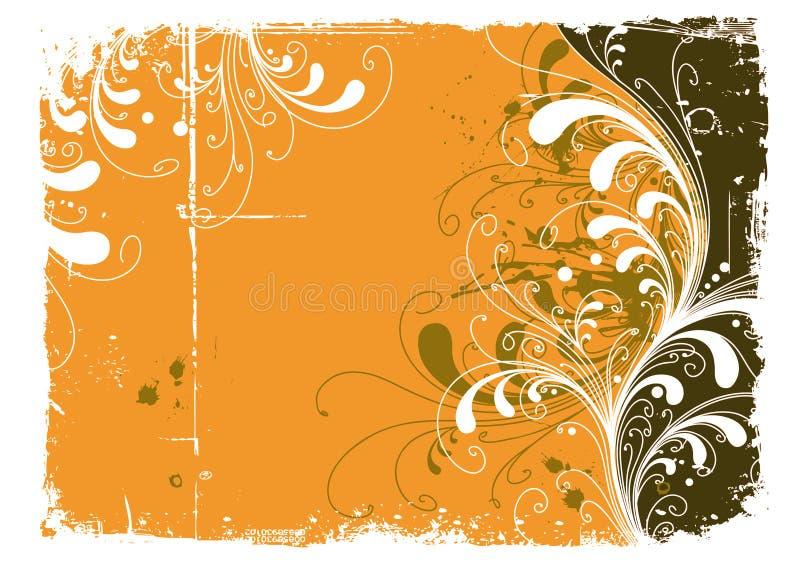 abstrakcjonistyczny kolor żółty royalty ilustracja