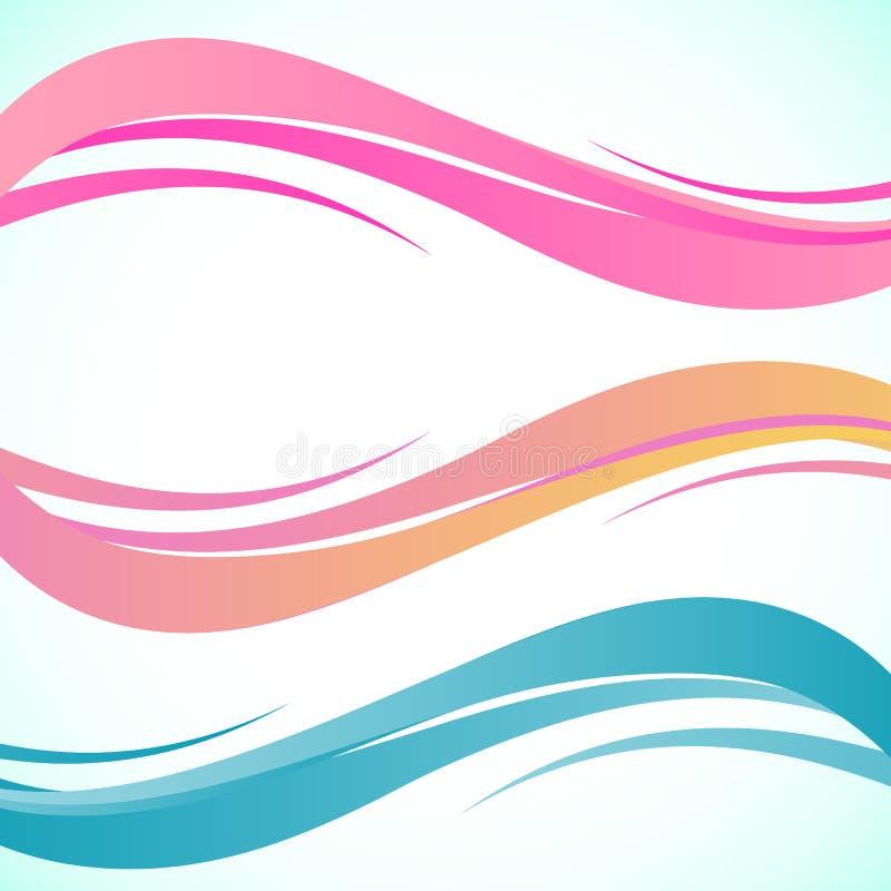 Abstrakcjonistyczny kolor fala projekta element Gładzi dynamicznego miękka część styl na lekkim tle również zwrócić corel ilustra ilustracja wektor