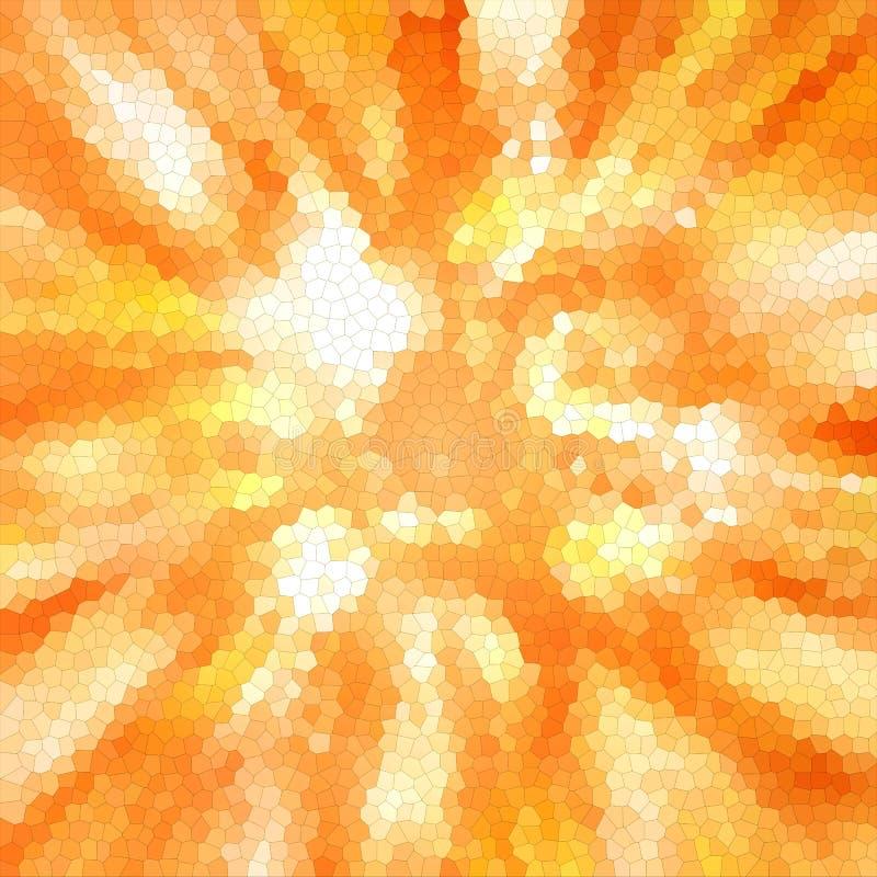 Abstrakcjonistyczny kolor mozaiki tekstury tło; abstrakcjonistyczny kolorowy ogień, płomień, światło słoneczne ilustracji