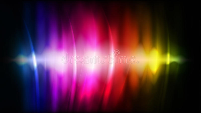 abstrakcjonistyczny kolor płynie tęcza wektor ilustracja wektor
