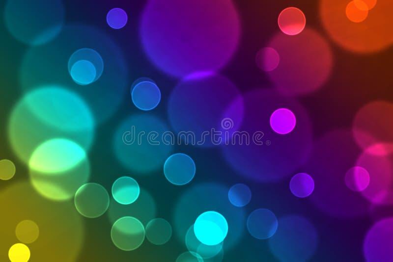 Abstrakcjonistyczny kolorowy błyskotliwy lekki bokeh skutka tła wizerunek ilustracja wektor