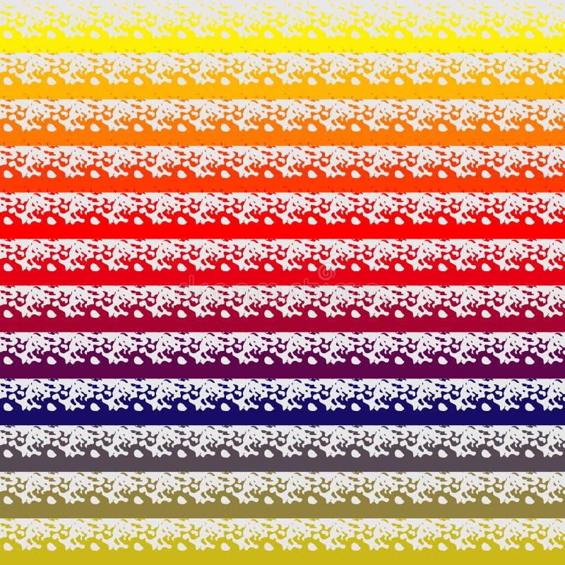 Abstrakcjonistyczny kolorowy bezszwowy deseniowy tło z grunge wykłada wektorową ilustrację abstrakcjonistyczny muśnięcia wzoru ud ilustracji