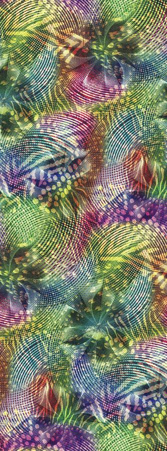 Abstrakcjonistyczny kolorowy blokowego druku wzór zdjęcia stock