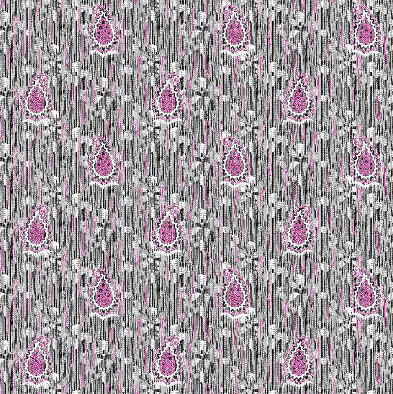 Abstrakcjonistyczny kolorowy blokowego druku wzór ilustracji