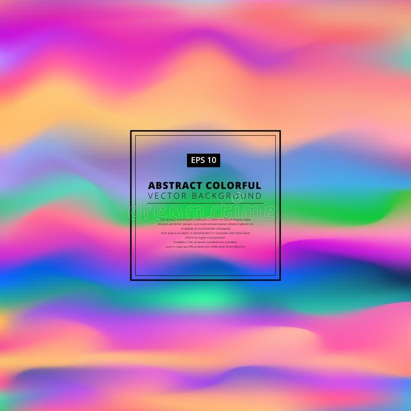 Abstrakcjonistyczny kolorowy 3D falisty tło Ciekłego koloru Dynamiczny skutek ilustracji