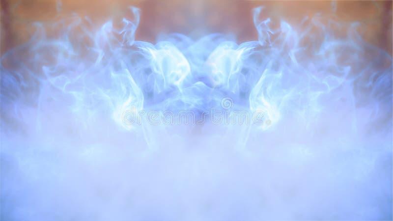 Abstrakcjonistyczny kolorowy defocus tło, światło i dym, royalty ilustracja