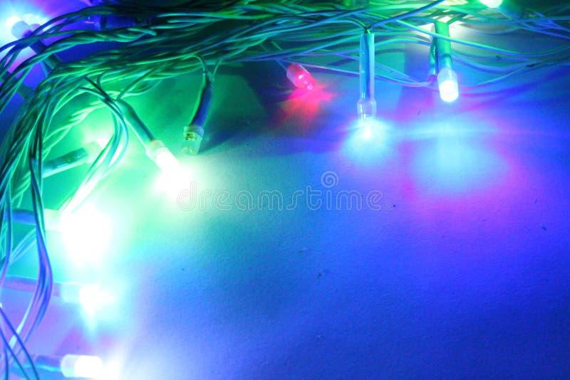 Abstrakcjonistyczny kolorowy Dowodzony światła tło zdjęcie stock