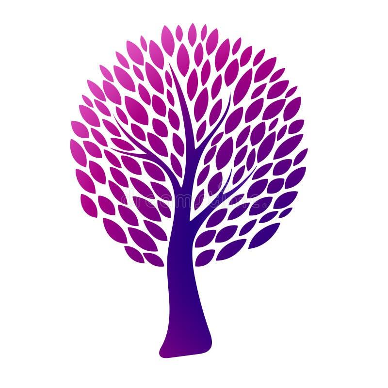 abstrakcjonistyczny kolorowy drzewo również zwrócić corel ilustracji wektora ilustracja wektor