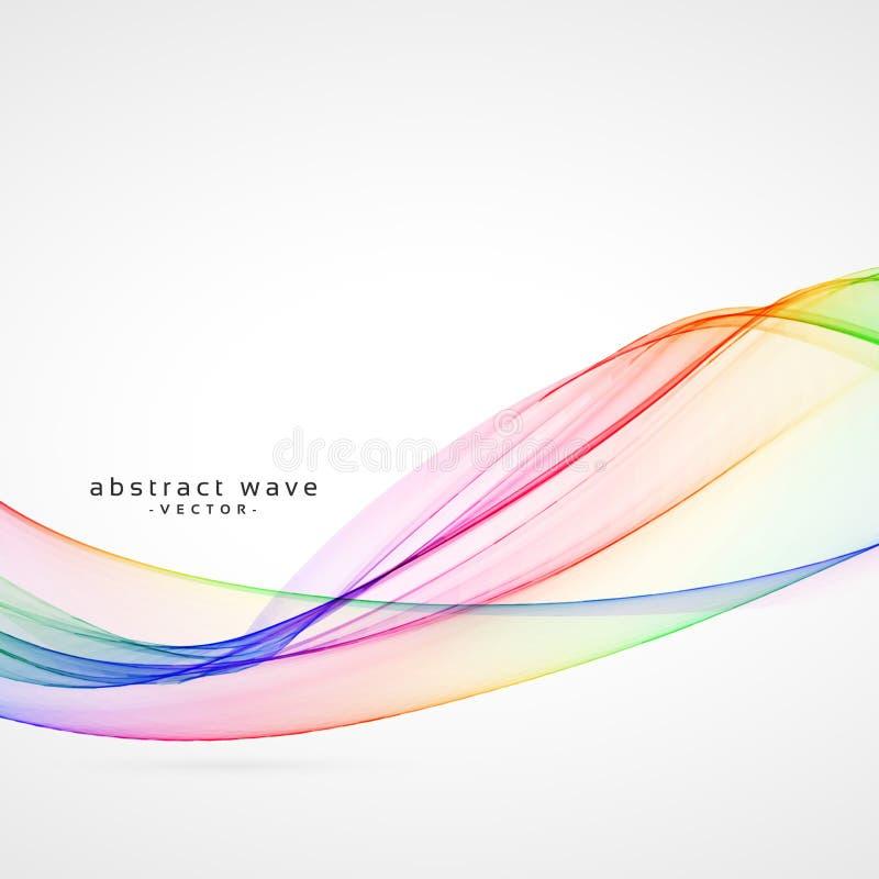 Abstrakcjonistyczny kolorowy dym fala tło royalty ilustracja