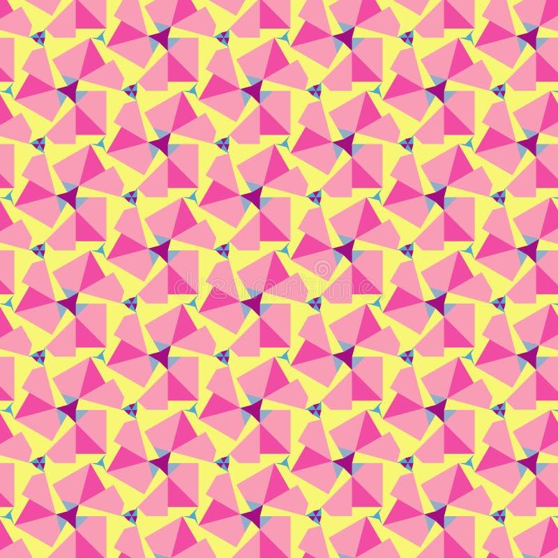 Abstrakcjonistyczny kolorowy geometryczny tło. Wektor royalty ilustracja