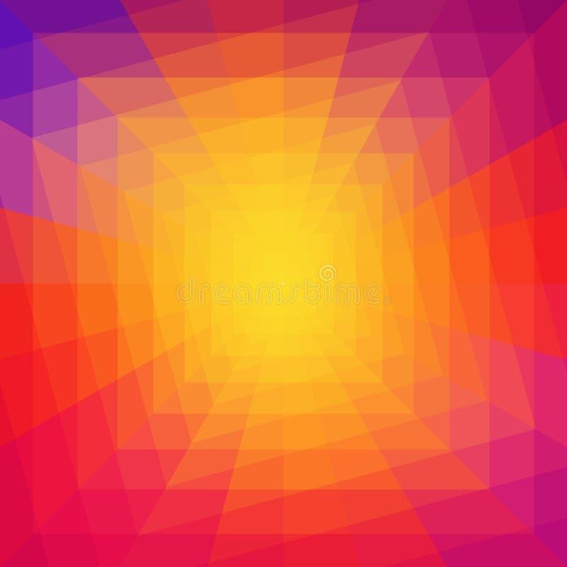 Abstrakcjonistyczny Kolorowy Geometryczny Tunelowy tło royalty ilustracja