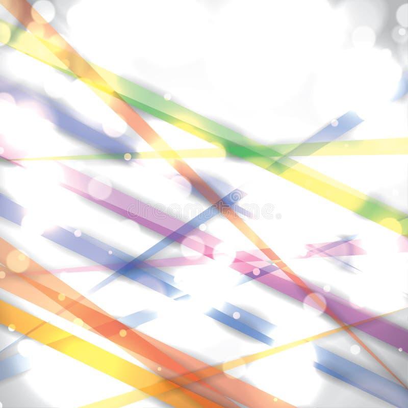 Abstrakcjonistyczny kolorowy jaskrawy biały tło royalty ilustracja