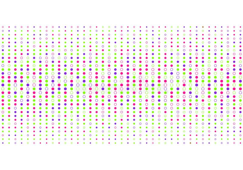 Abstrakcjonistyczny kolorowy kropka wzoru halftone styl na białym tle ilustracji