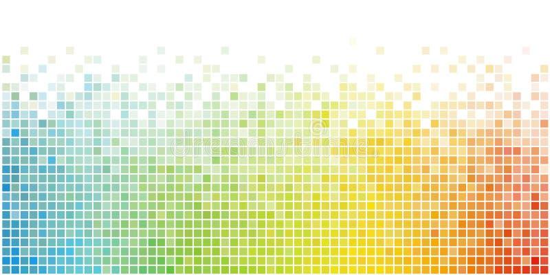 Abstrakcjonistyczny kolorowy kwadratowy mozaiki t?o ilustracji