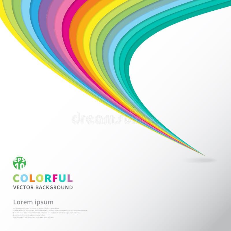 Abstrakcjonistyczny kolorowy linia wzoru skręta krzywy elementu prędkości ruch royalty ilustracja