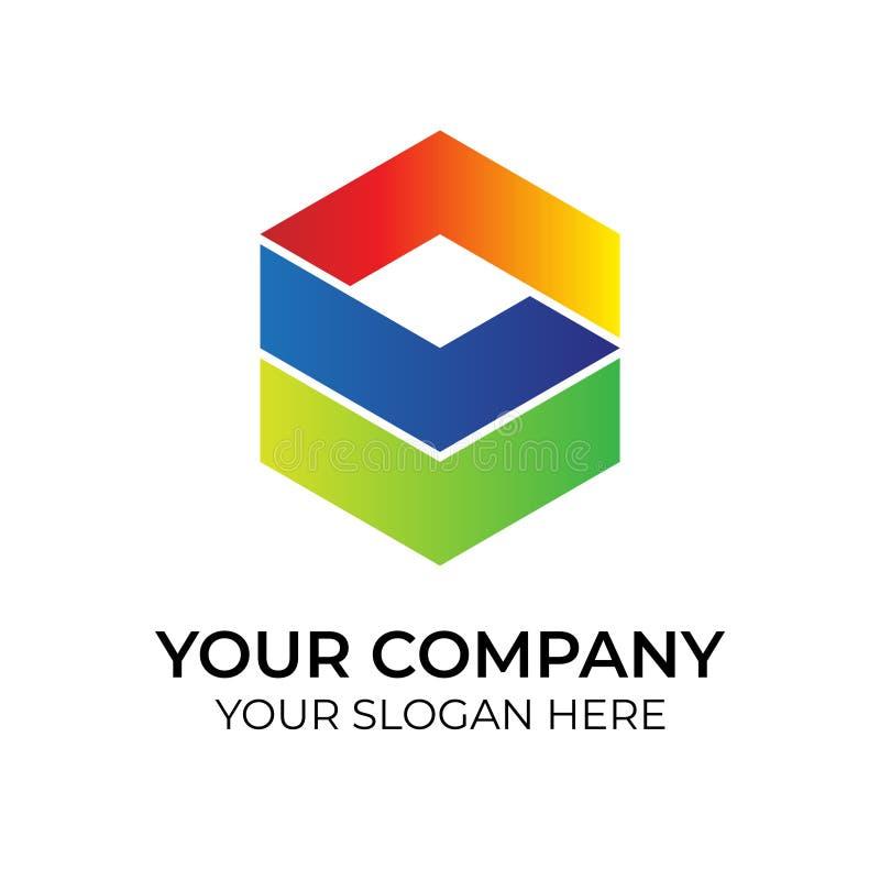 Abstrakcjonistyczny kolorowy logo ilustracji